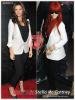 » Un air de déjà vu ... Katie Holmes et Rihanna ont craqué sur le  même blazer ! Un détail qui n'a pas échappé à la Fashion Police de RihannaLook ! Alors ... votre préférence ?