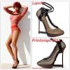 """# # Rihanna porte des escarpins    """" Lanvin  """"  Printemps/été 2011 Remarque * Voici encore un autre très beau cliché qui provient du shoot de l'édition spécial iPad Vogue, réalisé par la prestigieuse Annie Leibovitz. Un regard toujours aussi sauvage, une bouche pulpeuse et corps de rêve, La belle Rihanna porte un joli haut coloré assortie à une culotte taille haute et une incroyable paire d'escarpins Lanvin printemps 2011."""