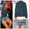 """# # Rihanna porte une chemise  """" Miu Miu  """"  qui coûte   390 ¤ !, un short  """" J Brand """"  qui coûte   148 $ ! Remarque *  Rihanna s'est rendue dans l'après-midi au restaurant « Philippe Chow » à Los Angeles dans un look audacieux ! Notre fashionista favorite, arborait : un petit cardigan, une chemise Miu Miu, un petit short en jean signé J Brand dévoilant ses belles jambes, une jolie paire d'escarpins Prada, de nombreux bijoux étincelants et un adorable head band bleu ciel sur la tête. Un look original et décalé, qu'il lui va à merveille !"""