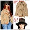 """# # Rihanna porte une veste  """"Isabel M.""""  qui coûte   725 $ !, un chapeau  """"Rag&Bone""""  qui coûte   160 $ ! Remarque * Rihanna a été aperçue quittant son hôtel de New York pour prendre un vol en direction de la Jamaïque pour le tournage de son future tube  « Man Down ». Toujours aussi audacieuse en mode, La belle portait : une jolie veste Isabel Marant, un Tee-shirt blanc dessous, un jean retroussé, des derbys jaunes Robert Clergerie,  un chapeau vert signé Rag & Bone, et des lunettes de soleil. Alors ... Vos impressions ?"""