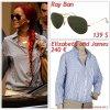 """# # Rihanna porte des lunettes  de soleil """" Ray Ban  """"  qui coûte   139 $ !, une chemise  """" Elizabeth and James """"  qui coûte   240 ¤ ! Remarque * Rihanna a été aperçue quittant un immeuble  à Milan, où l'attendait Roberta Armani, la nièce du célèbre créateur Gorgio Armani pour lui offrir  un cadeau de la marque ! L'interprète de Only Girl, portait : une chemise  Elizabeth and James, un petit sac à main, quelques bijoux,  et des lunettes aviator RayBan.   Décidément, La belle barbadienne est très chanceuse en ce moment. Il y a quelques jours, la chanteuse a  reçue un tout autre cadeau, un autographe du célèbre créateur français de chaussures pour femmes à semelles rouges, Christian Louboutin ! En tant que véritable fan inconditionnelle de cette marque, Rihanna n'a pu s'empêcher de publié l'événement sur son twitter : """"Comment c'est cool!!! Mr. Louboutin lui-même"""". VOIR LA PHOTO"""