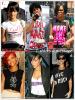 """» Voici quelques """" T-shirts à message  """" que la chanteuse Rihanna a porté  : Choisissez votre  T-shirt à message    favori !  Article  collaboration avec Blackissi"""