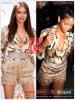 » Un air de déjà vu ...  Irina Shayk et Rihanna ont craqué sur la  même combi-short ! Un détail qui n'a pas échappé à la Fashion Police de RihannaLook ! Alors ... votre préférence ?