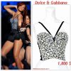 """# # Rihanna porte un haut    """" Dolce & Gabbana """" qui coûte   1,800 $ !  Remarque * Souvenez-vous, Le 20 février (le jour de son anniversaire), Rihanna a eu l'honneur de chanter lors de la mi-temps du match de basket au Staples Center de Los Angeles. La belle a  enflammé la scène du Staples Center avec  un medley de ses plus grands tubes. Pour son look de scène, la chanteuse arborait : une micro-jupe noire à frange, un petit haut noir recouvert de strass Dolce & Gabbana, une paire de boots Chanel de la collection automne 2010 et une longue chevelure rouge. Alors ... Vos impressions ?"""
