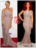 » Un air de déjà vu...  Selita Ebanks et Rihanna ont craqué sur la  même robe ! Un détail qui n'a pas échappé à la Fashion Police de RihannaLook ! Alors ... votre préférence ?
