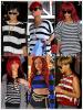 """»  Voici quelques """" hauts à rayures """" que la chanteuse Rihanna a porté : Choisissez votre haut à rayures  favori !  Article  collaboration avec Fent-Rihanna"""