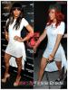 » Un air de déjà vu...   Ciara et Rihanna ont craqué sur la  même robe ! Un détail qui n'a pas échappé à la Fashion Police de RihannaLook ! Alors ... votre préférence ?