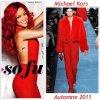 """# # Rihanna porte des vêtements """" Michael Kors, Miu Miu, Givenchy """" Collection Automne Remarque *  Après avoir fait la couverture de plusieurs magazines de mode tels que : Marie-Claire, Elle, Vogue...  Rihanna fait cette fois-çi celle de Glamour US ! Pour ce photoshoot, La chanteuse âgé seulement de 23 ans porte  : une robe noire Miu Miu, une combinaison rouge Michael Kors où encore un ensemble jaune Givenchy collection automne hiver 2011. La belle Barbadienne a même posté sur sa page Face Book une vidéo très glamour durant le  photoshoot : VOIR LA VIDÉO."""