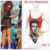 """# # Rihanna porte un maillot  """" We Are Handsome  """" personnalisé pour elle qui coûte 265 $ !   Remarque *    Le 06 Aout 2011, Rihanna a été aperçue sur un  yacht à la Barbade, Ensuite la jeune femme s'est rendue à plage, toujours aussi rayonnante auprès de ses proches. La jolie Barbadienne, arborait cette fois-çi : un maillot une pièce signé We Are Handsome  à l'effigie de Bob Marley (son chanteur préféré) spécialement personnalisé pour elle. La chanteuse de 23 ans, portait également : un gilet noir, un sac à franges Chanel, des lunettes de soleil, des sandales vertes aux pieds et quelques bijoux dorés. Alors ... Vos impressions ?"""