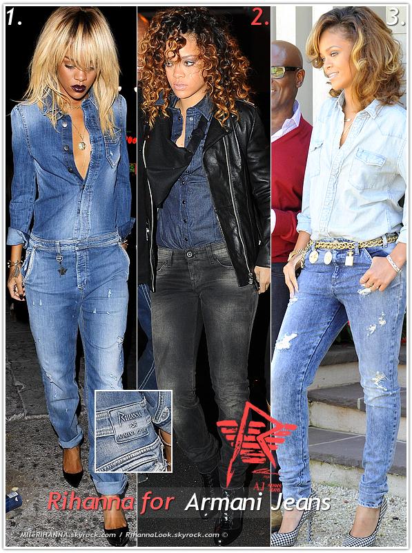 """» Voici quelques jeans provenant  de la collection """"  Rihanna for Armani Jeans  """"  : Choisissez votre  jean Rihanna for Armani Jeans   favori !  Article en  collaboration avec MlleRIHANNA"""
