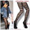 """# # Rihanna porte des collants """" Johnathan Aston """"  qui coûte 20 $ ! Remarque * Le 19 Février 2012, La belle Barbadienne a été aperçue quittant son hôtel à Londres avec la Rihanna Navy (ses fans) qui l'attendaient. Coté look Rihanna n'a pas fait les choses à moitié, elle portait : une veste en denim XXL, un haut noir dessous, un short destroy, des collants très originaux signé Johnathan Aston, une paire de boots aux pieds et une casquette en cuir."""