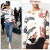 """# # Rihanna porte un pull """" Religion """"    qui coûte 79 $ € ! Remarque *   Rihanna a été aperçue à la sortie de son hôtel à Londres et s'est ensuite rendue au studio, le 28 février 2012.  Une tenue plus décontractée, vêtue : d'un pull destroy Religion, d'un jean, d'une paire de tennis blanches, d'un sac à main et d'une casquette très originale sur la tête."""