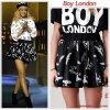"""# # Rihanna porte une jupe """" Boy London """"  qui coûte 45 £ € ! Remarque * Rihanna était invitée le 3 mars sur le plateau de l'émission télévisée The Jonathan Ross Show pour la promotion de son 6éme album """"Talk That Talk"""". La jeune Fashionista était habillée de la tête aux pieds par la marque anglaise Boy London en noir et blanc. Alors les filles, que pensez-vous du look de Rihanna ?"""