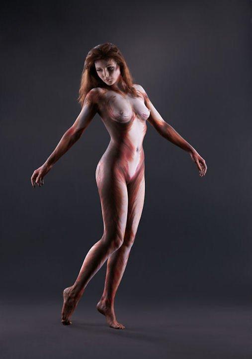 bodypainting silhouette - sympa ou pas ?