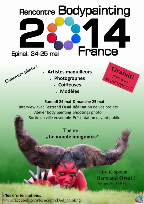 Rencontre Bodypainting France 2014