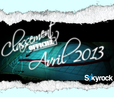 CLASSEMENT AVRIL 2013