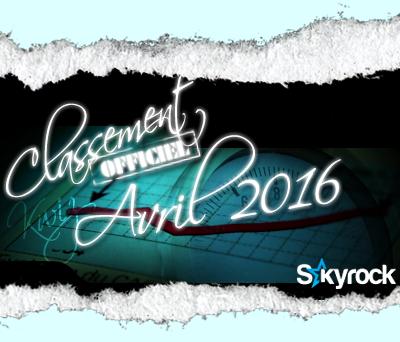CLASSEMENT AVRIL 2016