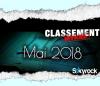 CLASSEMENT MAI 2018