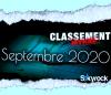CLASSEMENT SEPTEMBRE 2020