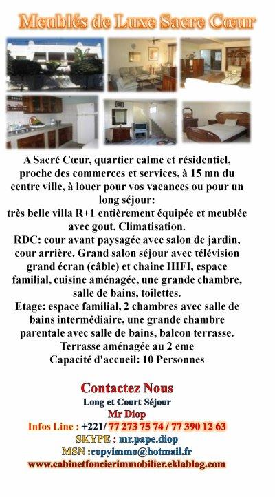 Vente & Location d'une belle résidence hoteliere à SENDOU Pieds dans l'eau