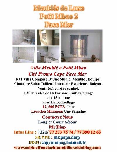 Appartement spacieux moderne à la Sicap Sacre coeur 1