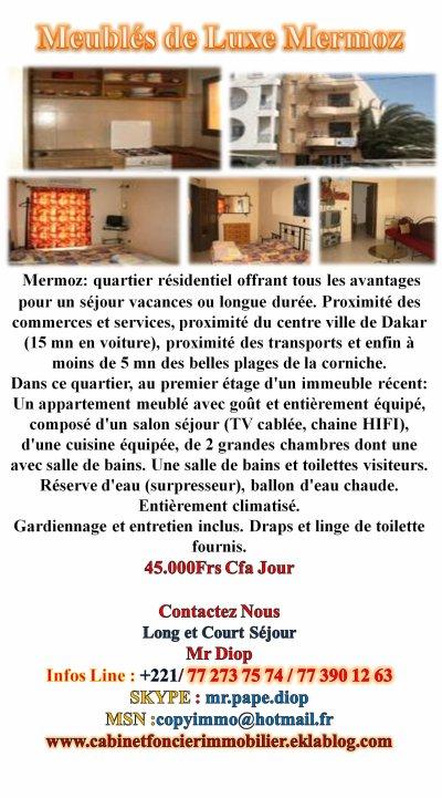 2 Chambres Salon Tres Bien Equipé Luxueux Centre  Ville a Loués Par Jour / Semaine /Moi Renseignez Vous