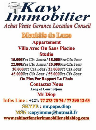 Nous Avons  Meublés Tous Genres  Dakar Somone Saly Toubab Dialaw...Sénégal  Avec Tous Budgets