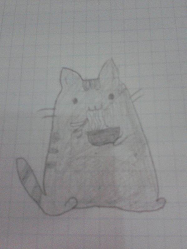 """Dessin 31 """"ramen cat"""""""