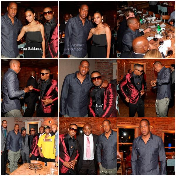 jayoncé (c) 14/09/11 : Jay-Z était à la fête d'anniversaire de son vieil ami Nas' (rapeur) à New York. jayoncé (c)