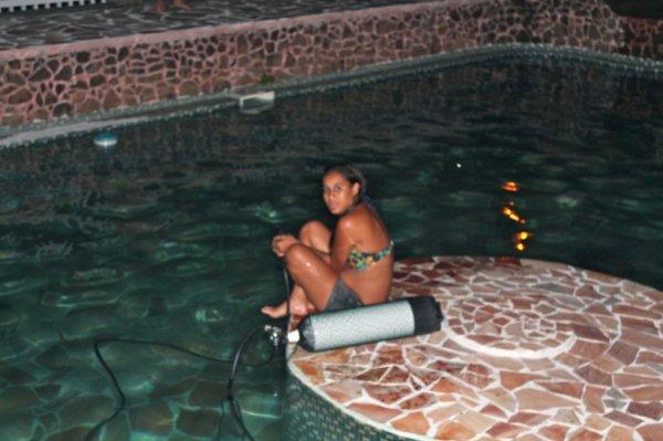 Bapthème de plongée à la piscine