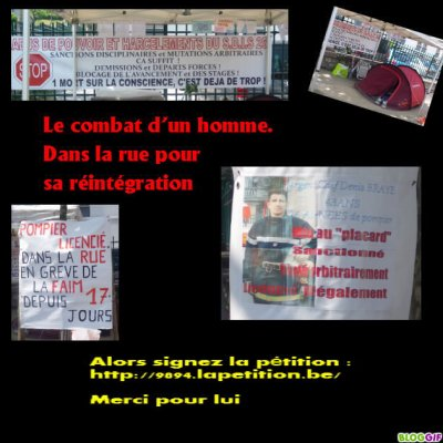 TOUJOURS MOBILISER POUR LE COMBAT DE DENIS BRAYE UN POMPIER LICENCIER