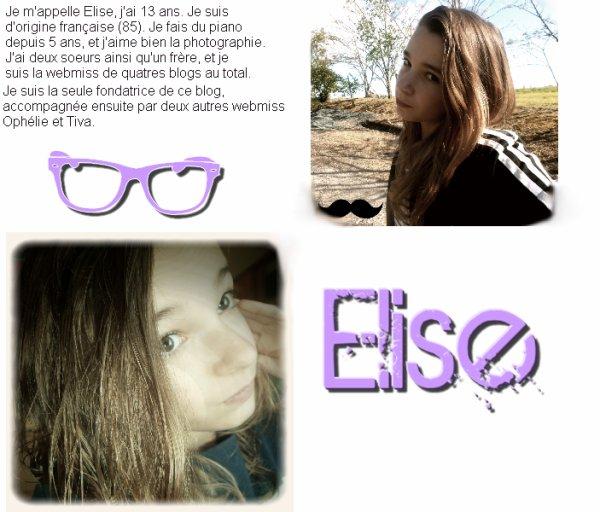 La webmiss/fondatrice Elise