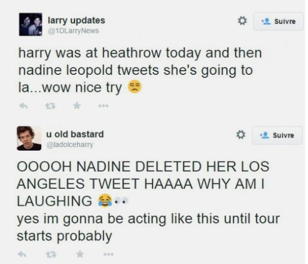 Harry Styles de retour à Los Angeles pour retrouver Nadine Leopold?