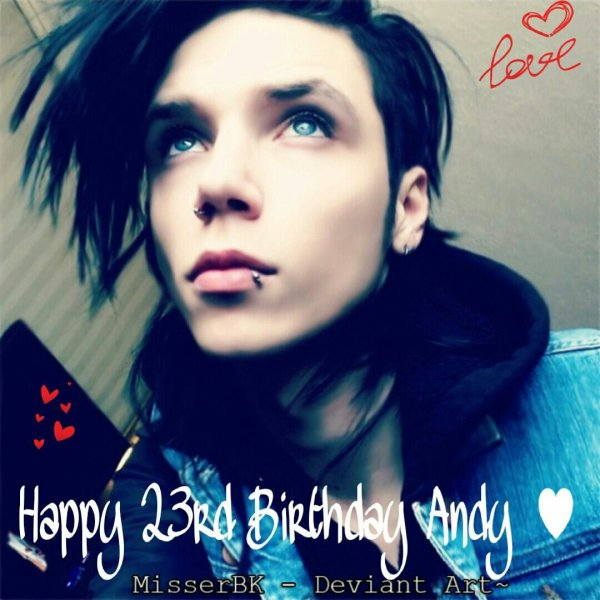 Joyeux 23ième anniversaire Andy ♥