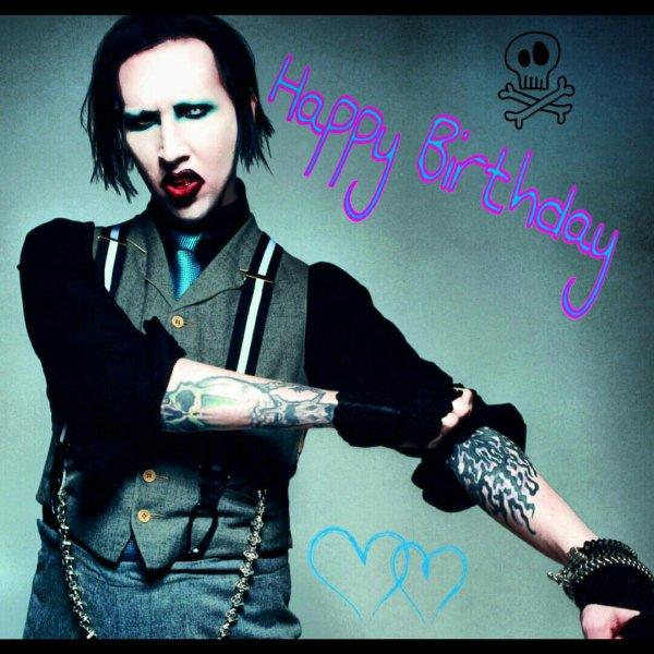 Joyeux anniversaire Marilyn Manson. *-*♥