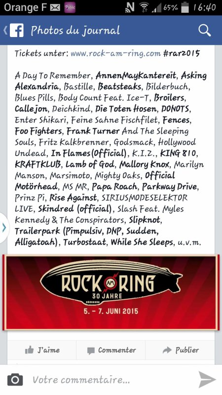 Rock Am Ring 2015.