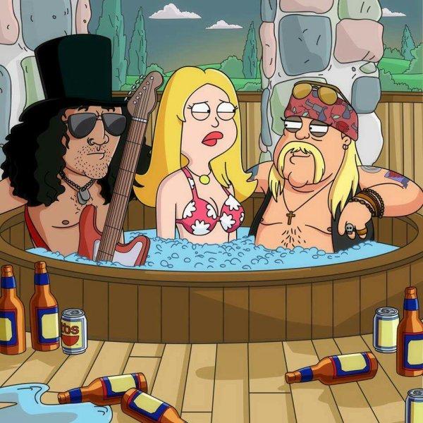 Slash et Axl. Ahaha.