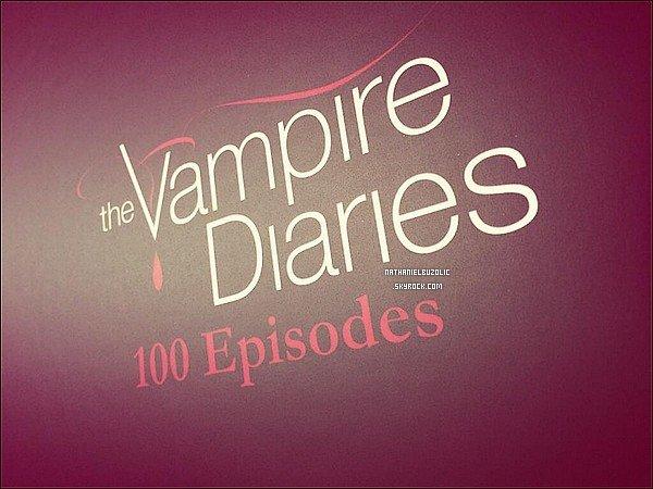 09 / 11 / 13 :Nathaniel ainsi que le cast de TVD & TO était à la célébration du 100ème épisode de Vampire Diaries. On peut le voir au côté de Steven R.McQueen.