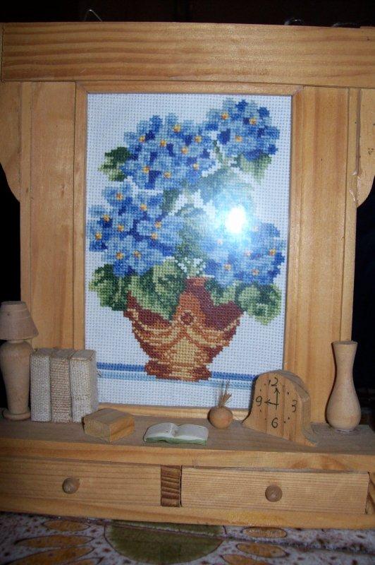 bouquet de fleurs en broderie