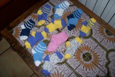 petite chaussette pour bébé