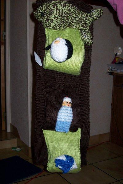 porte papier toilette en tricot