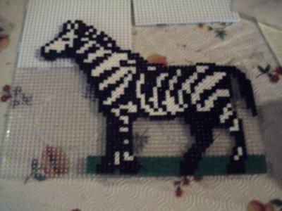 zebre en perles hama
