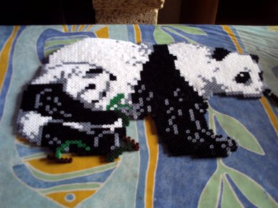 panda et son bebe en perle hama