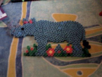 rhinoceros en perle hama