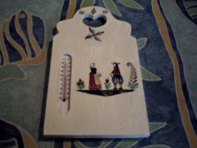 thermometre en serviette motif de bretagne