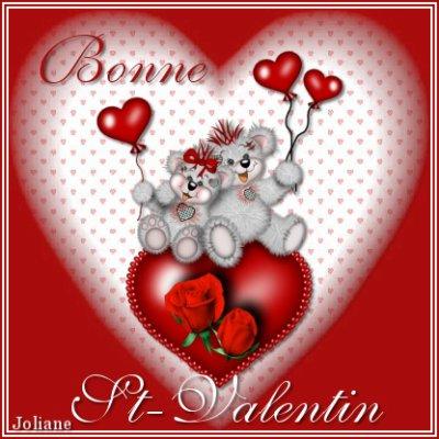 TRES BONNE SAINT VALENTIN A VOUS TOUTES MES AMIES