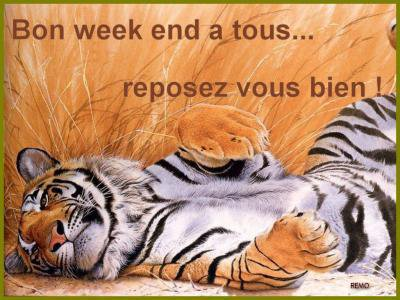 BON WEEK-END A VOUS TOUTES