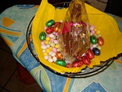 CHOCOLAT DE PAQUES POUR MON MARI MON FILS ET SA COPINE