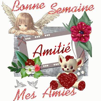 BONNE SEMAINE A VOUS TOUTES MES AMIES