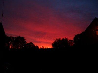 beau lever de soleil ce matin
